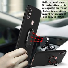 case for Xiaomi Redmi Note 7 Case Soft TPU Bumper Shockproof Cover magnet car holder Silicone Back For 5 6