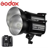 2PCS Godox QT600II 600W GN76 1/8000s Studio Flash Strobe Lighting Built in 2.4G Wirless System + X1T N Trigger for Nikon