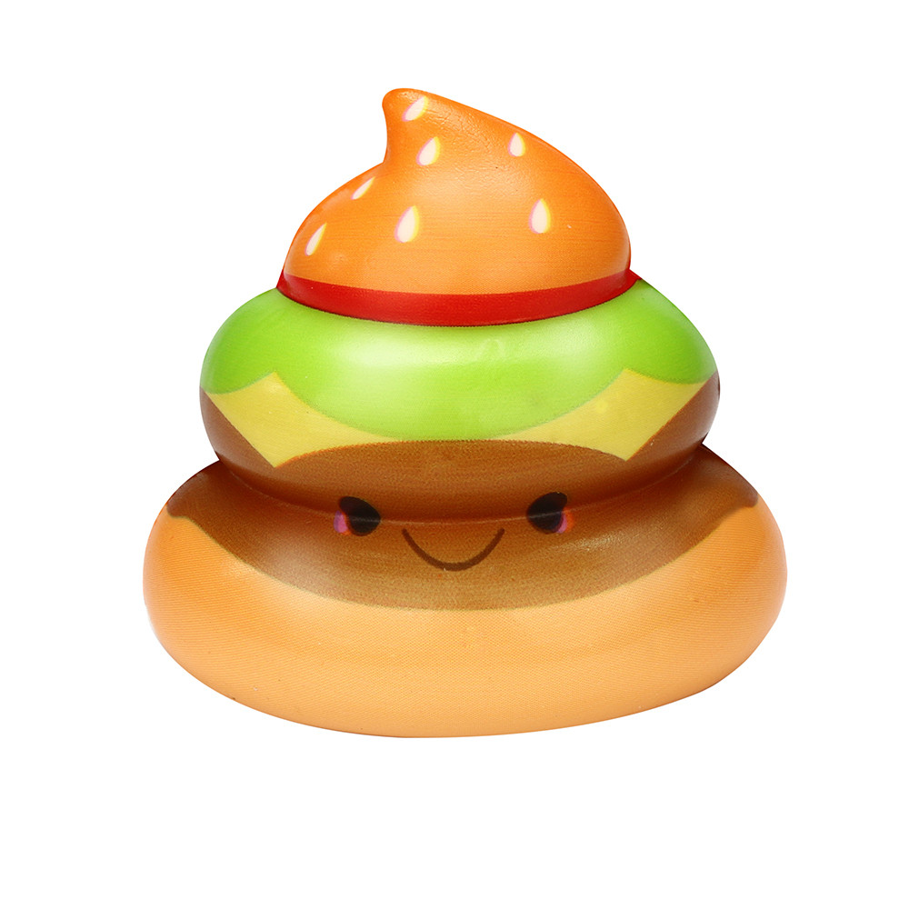 Hot Sale Squishies Kawaii Yummy Food Poo Slow Rising Cream Scented Stress Relief Toys    6.6