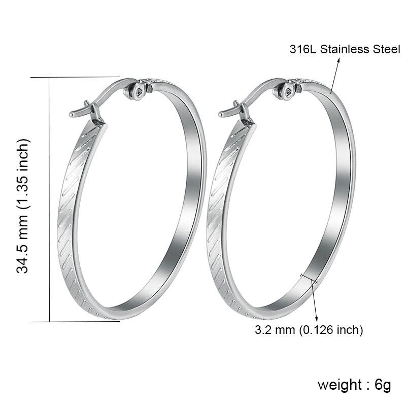 MUCIA – Stainless Steel Trendy Hoop Earrings Earrings Hoop Earrings 8d255f28538fbae46aeae7: 1366 Gold|1366 Silver|1371 Gold|1371 Silver|1372 Gold|1372 Silver|1373 Gold|1373 Silver|1510 Gold|1510 Silver
