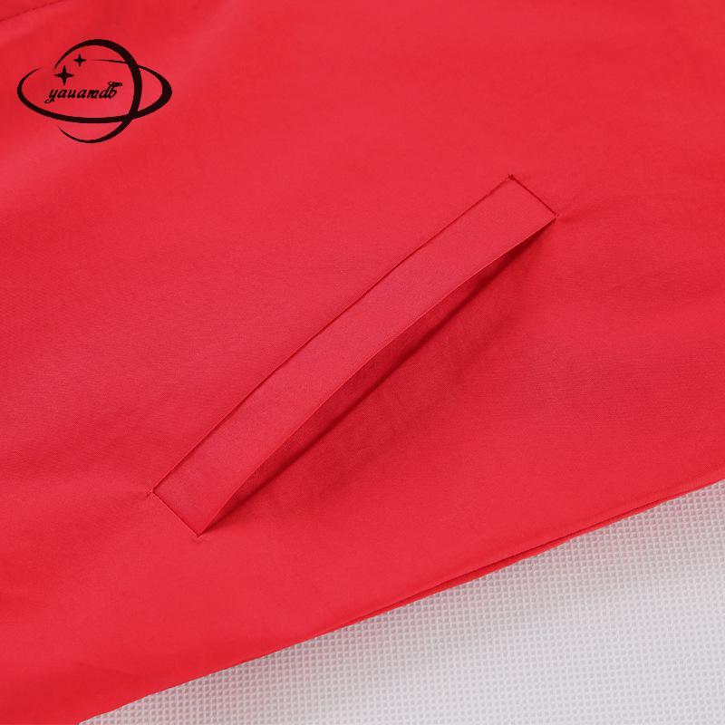 À Fermeture Noir Vêtements Poche Mode Solide Ly89 blanc Casual Éclair Femelle Broderie rouge Outwear Manteau Femmes M 4xl Yauamdb Veste Dames Automne Printemps AxP7q