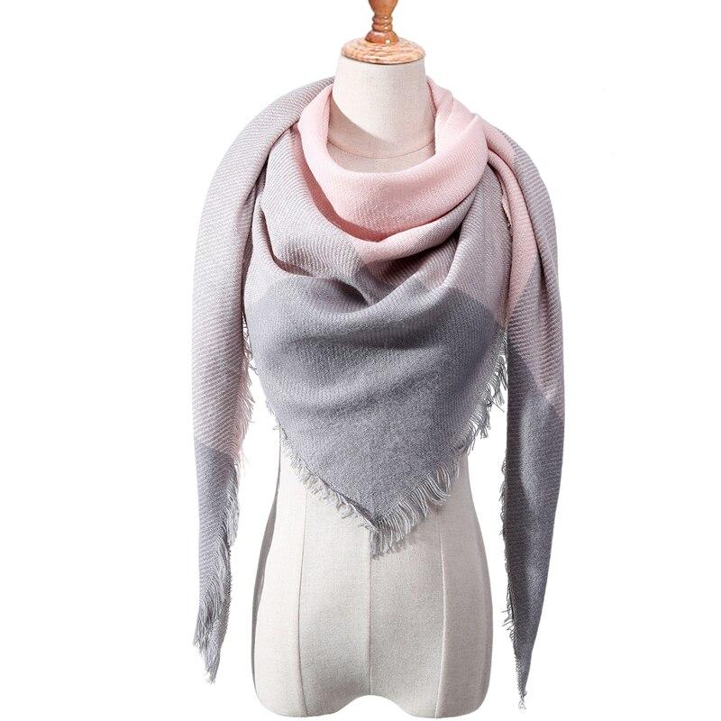 Бандана палантин платок на шею шарф зимний Дизайнер трикотажные весна-зима женщины шарф плед теплые кашемировые шарфы платки люксовый бренд шеи бандана пашмина леди обернуть - Цвет: c6