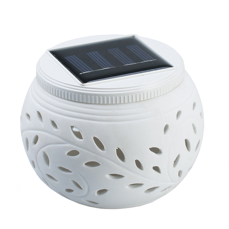 Ceramic Solar LED Landscape Lamp Outdoor Colorful Night ...