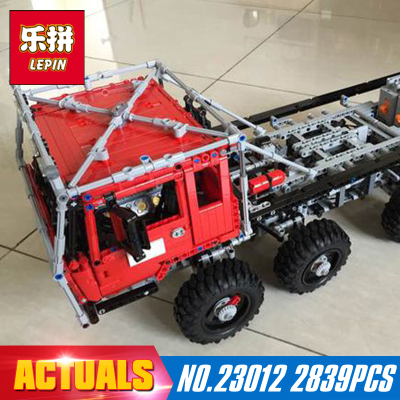 2839Pcs LEPIN 23012 technic series  car Model toy Building blocks Bricks for boys gift Equipped with 5 motors and 1 charging box lepin 20005 2793pcs technic series model building block bricks compatible with boys toy gift compatible legoed 42023