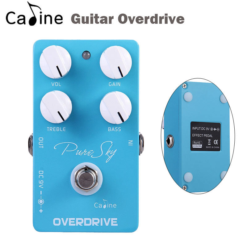 New Caline Guitar overdrive Effect Pedal Drive Booster Ture Bypass Guitar Parts & Accessories tomsline alr 3 guitar effect pedal accessories liner aby line selector mini electric guitar effect pedal ture bypass