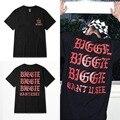 2016 nuevo Me siento como BIGGIE kanye west street fashion brand, rap camiseta hombres PERDÓN