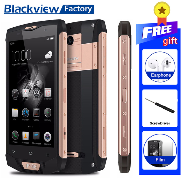 "Blackview BV8000 Pro IP68 Waterproof Smartphone 6GB+64GB Octa Core Android 7.0 5.0""FHD cellphone 16.0MP 4G GPS WIFI Mobile Phone"