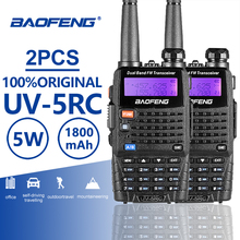 2pcs Baofeng UV-5RC Handheld Walkie Talkie UV 5R Upgraded Radio Amador Portable Walky Talky Professional Ham UV5R