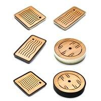 Ceramics Bamboo Tea Tray Drainage Water Storage Kung Fu Tea Set Home Board Table Chinese Tea Ceremony Tools Tea Set