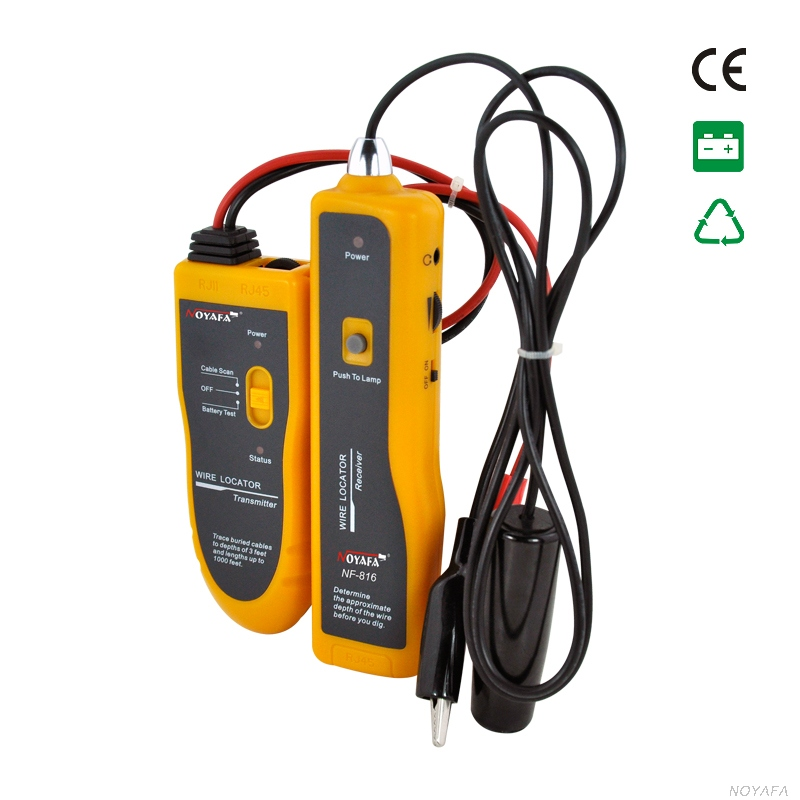 Original Noyafa NF 816 RJ11 Underground Buried Wire Locator Tracker Diagnose Tool Kit LAN Network Cable