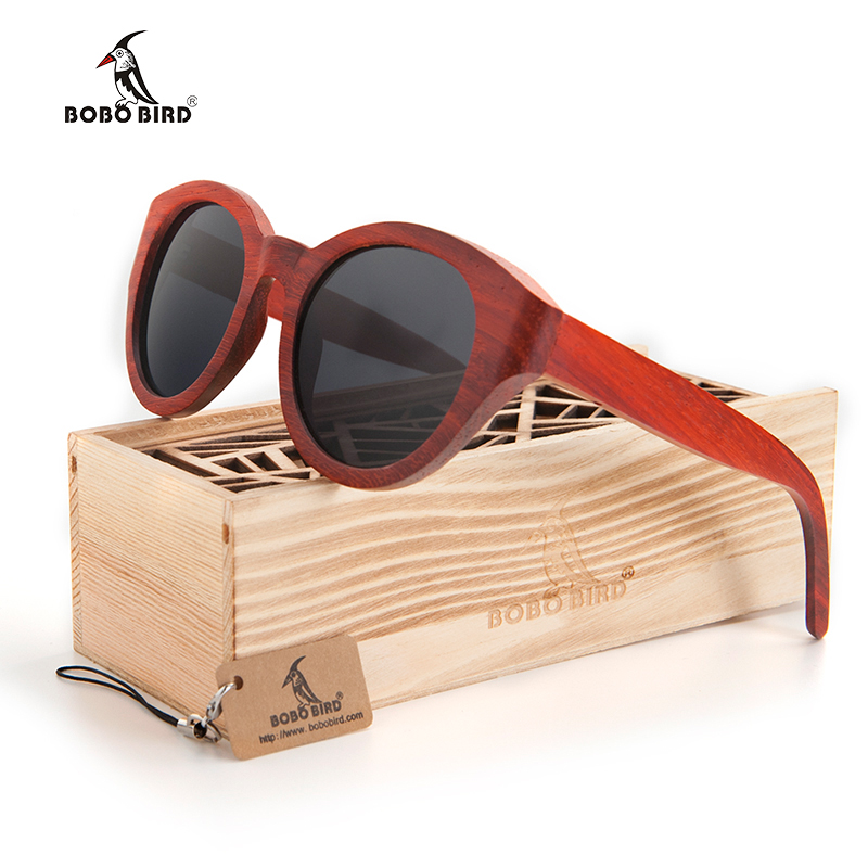 a662312dc8 Bobo Bird hombres madera Gafas de sol mujeres Sol Gafas señoras polarizadas  hechas a mano UV400