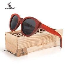 Бобо птица красного дерева Солнцезащитные очки для женщин Для женщин Брендовая дизайнерская обувь модные Защита от солнца Очки кошачий глаз ручной работы поляризационные UV400 eyewea