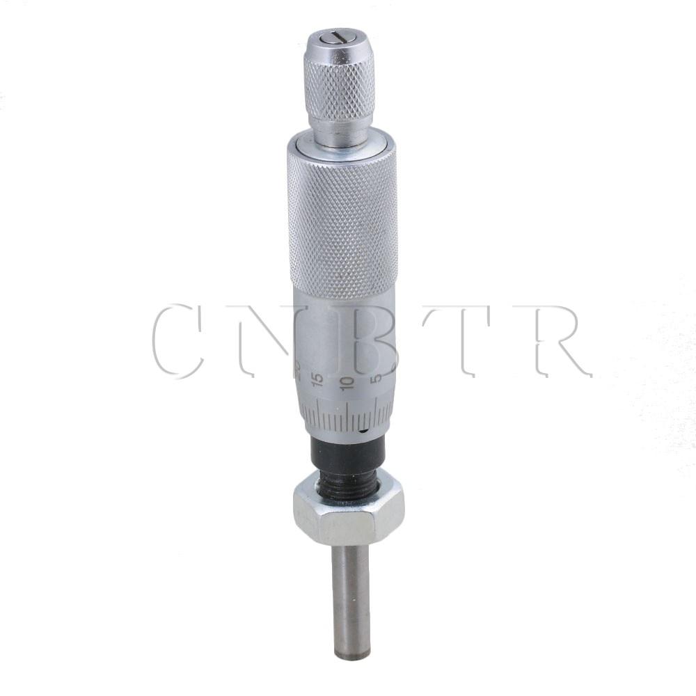CNBTR 0-25mm Metal Thread Micrometer Head Round Needle Precision Metalworking Measure lucky john round head 25 0 005 0