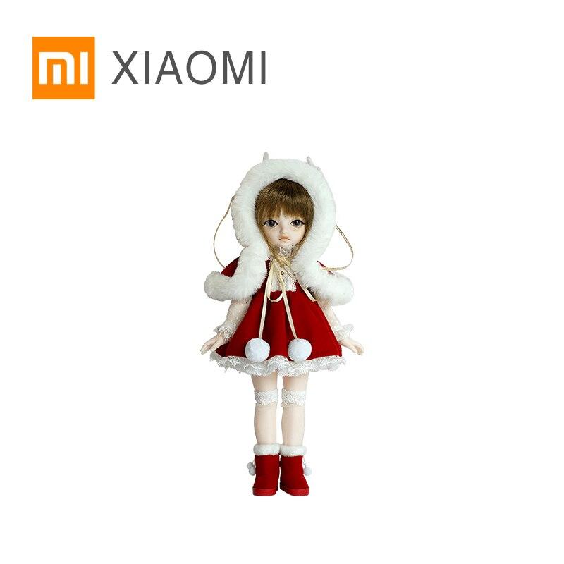 Oyuncaklar ve Hobi Ürünleri'ten Bebekler'de Orijinal XIAOMI MIJIA Simülasyon BJD Doll Serisi 3 Sevimli Stil Xiaomi Başlattı Aynı Bebek Kız çocuk doğum günü hediyesi'da  Grup 1