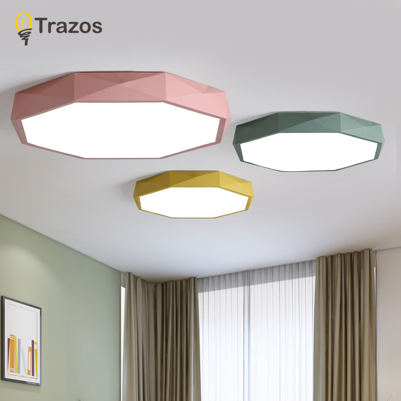 TRAZOS Modern LED Macaroon Ceiling Lights In Round Shape lamparas de techo For Bedroom Balcony Corridor Kitchen Lighting Fixture modern led ceiling lights for home lighting plafon led ceiling lamp fixture for living room bedroom dining lamparas de techo
