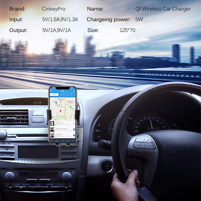 CinkeyPro Wireless Autoladegerät für iPhone X 8 XS Samsung XiaoMi - Handy-Zubehör und Ersatzteile - Foto 6