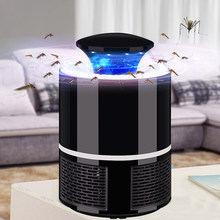 Eficaz USB Mosquito Killer Lámpara electrónica Mosquito Killer Led trampa de insectos Mosquito Killing Catcher Zapper repelente de plagas(China)