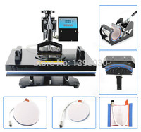 1PC 6in1 30*38cm T shirt Swing Away Heat Press Machine/Shaking Head Heat Transfer Sublimation Machine