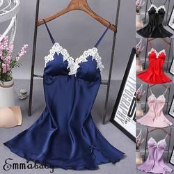 Сексуальные женские дамские пижамы женское комбинация Нижнее белье Ночное платье