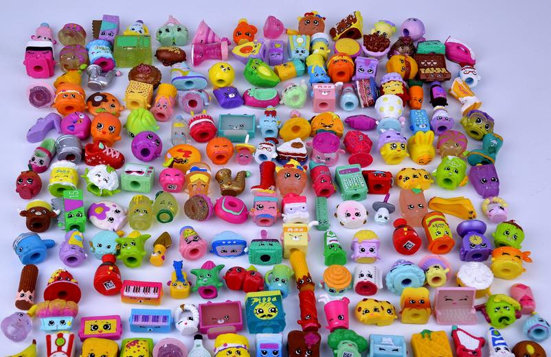 100Pcs/lot Many Styles Shop Action Figures for Family Fruit Kins Shopping Dolls Kids Christmas Gift Playing Toys