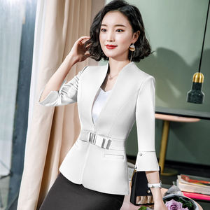 Image 4 - Dushicolorful משרד בגדי 2019 אביב קיץ נשים חצאית חליפות נשות egelant ללבוש רשמי שתי חתיכה חצאית סט אחיד שחור