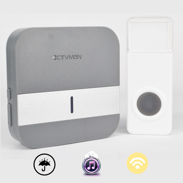 US $8 72 20% OFF|CTVMAN Doorbell Wifi Home Wireless Door Bell Support  110~230V Wireless Doorbell 300m Waterproof Push Button EU/US/UK plug -in