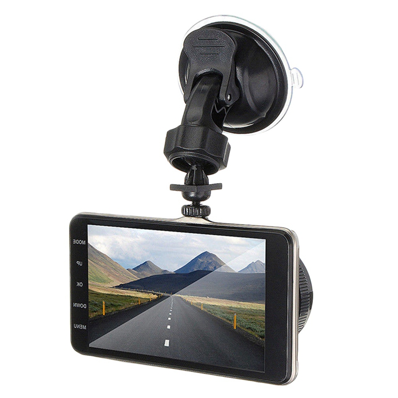 4 Inch Front And Rear Dual Lens Driving Recorder Hd 1080P Car Vehicle Dvr Edr Dashcam With G-Sensor Rearview Functions(China)