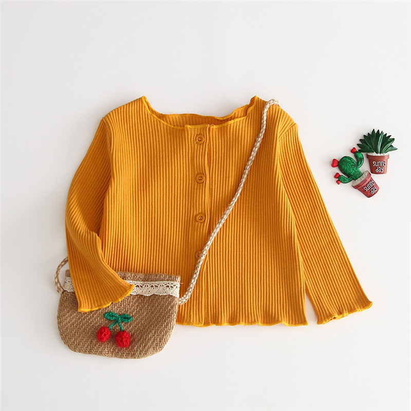 Candy Color Baby Spring Autumn Cardigan Clothes Newborn Infant Baby Girl Clothes Knitted Sweater Coat Tops Button Clothing(China)