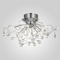 Free Shipping Flush Mount Comtemporary Crystal Ceiling Light Fixture For Living Room In 11 Lights G4