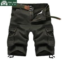 2019 Summer Cargo Shorts Men Military Solid Breathable Mens Shorts Hig