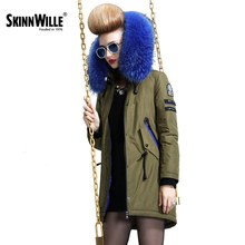 skinnwille 2016 new products down jacket in winter More female in long White duck down even the chinstrap collars winter