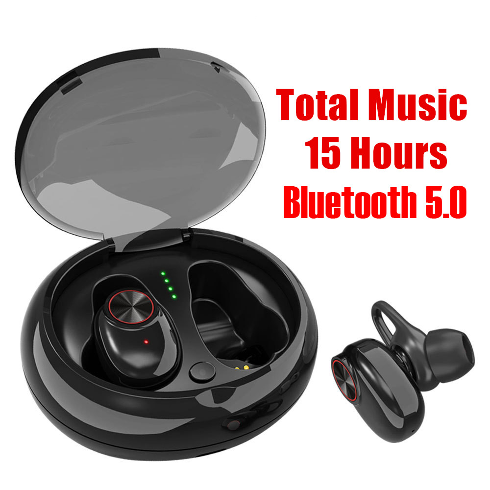 Dual Earphone TWS Bluetooth 5.0/4.2 Headset Wireless Earbud with Handsfree Stereo Music QI-Enabled With Charging Box Waterproof bluetooth