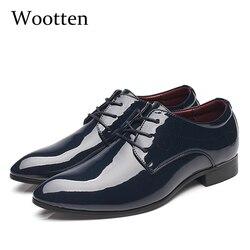 11957ac083 Homens se vestem sapatos de adulto plus size couro envernizado bico fino  escritório clássico da moda