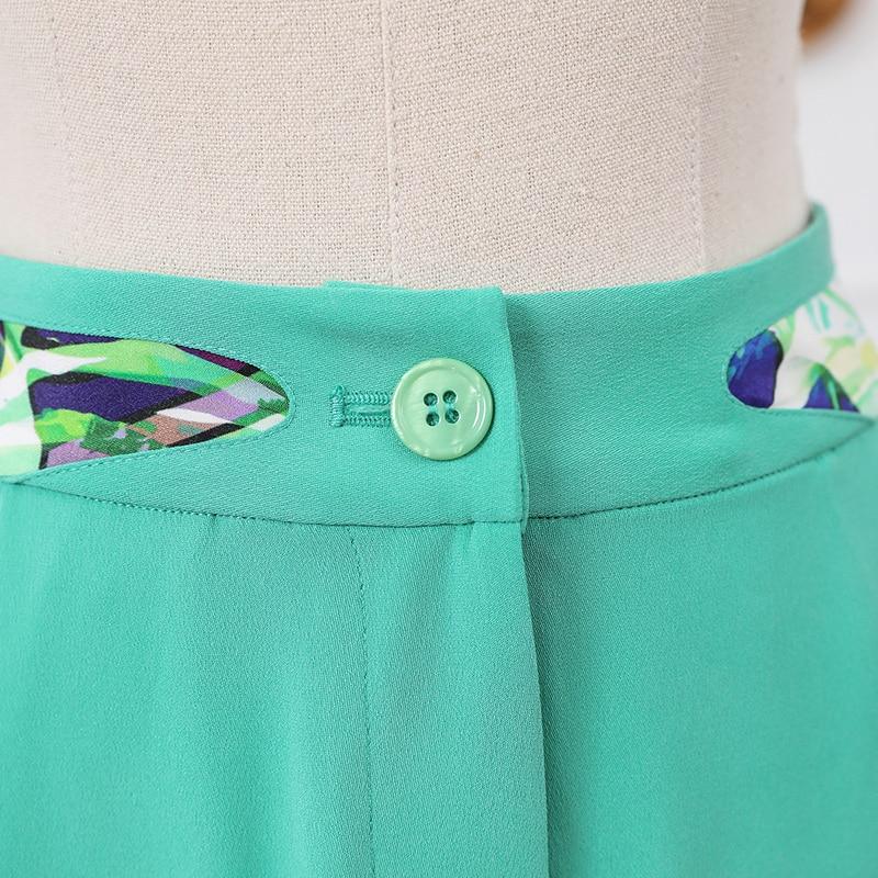 Soie Dames Lourde Voa Base Vogue Streetwear Mi Taille Vert De Doux Travail K702 Harem Femmes Turquoise Bureau Automne Vêtements Pantalon Menthe dBrQtshoCx