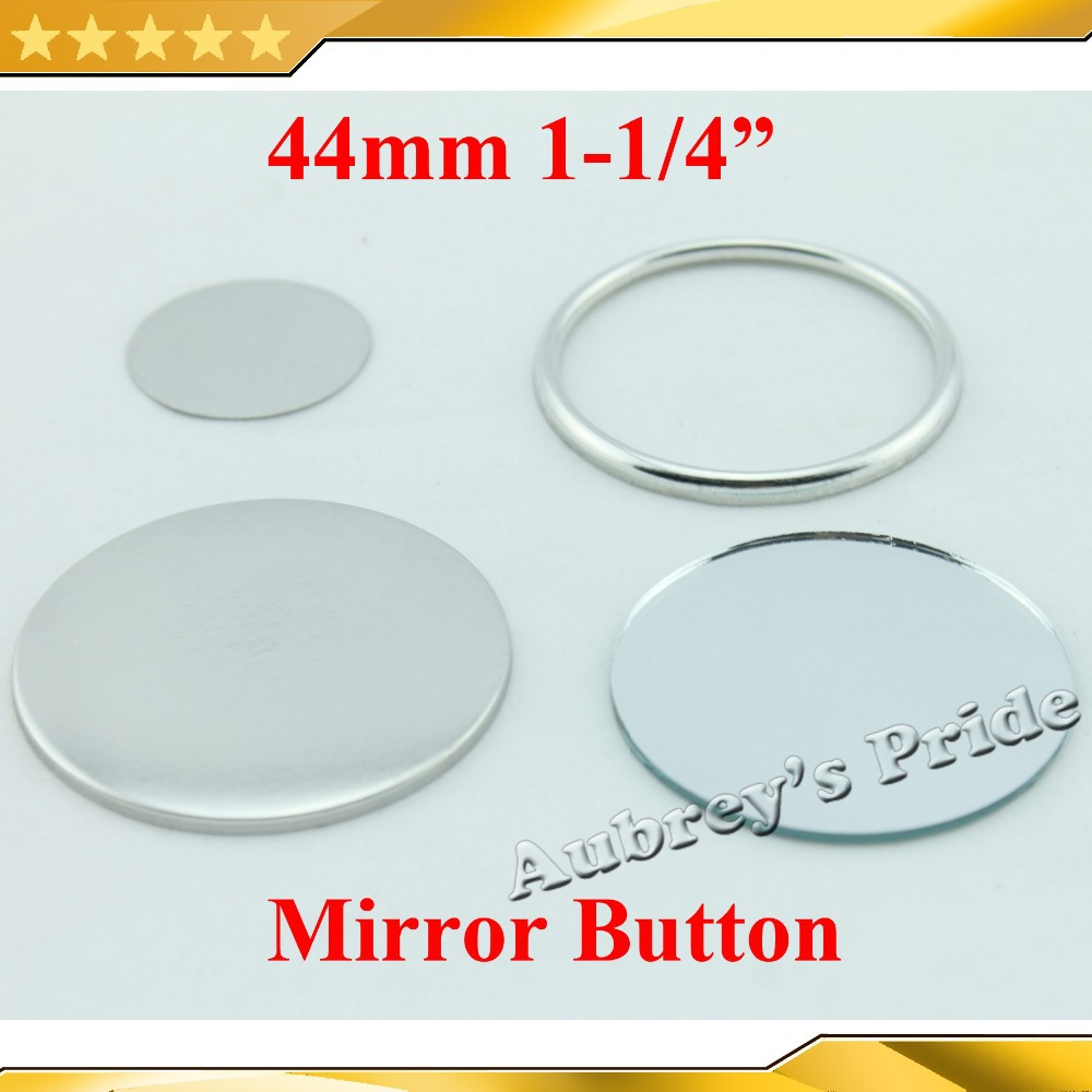 1-34 44mm 100 Sets Mirror Badge Button Supply Materials for NEW Professional Badge Button Maker