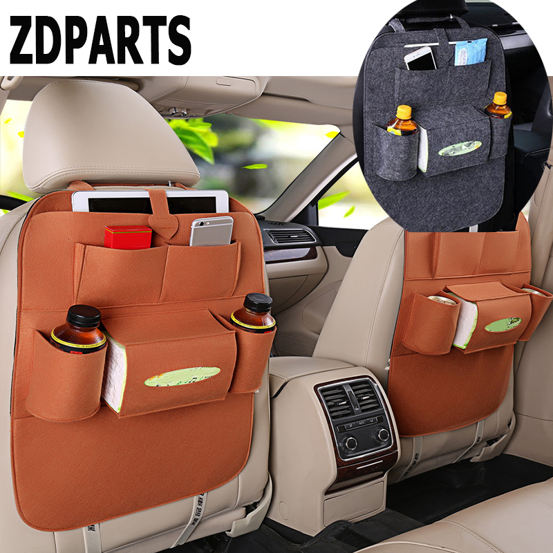 ZDPARTS Car Seat Back Hanging Organizer Bag Multi-pocket For Ford Focus 2 3 Fiesta Mondeo Chevrolet Cruze Jeep Renegade Styling
