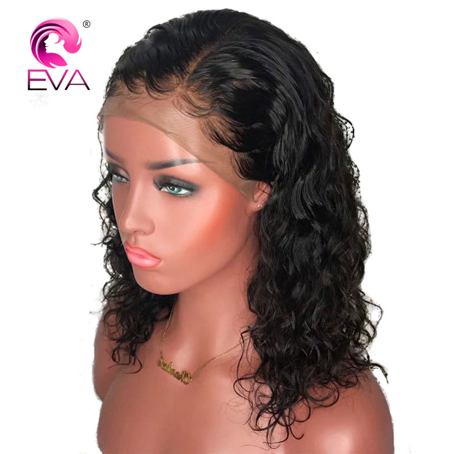 Glueless Full Lace Human Hair Wigs With Baby Hair Pre Plucked Hairline Short Full Lace Bob