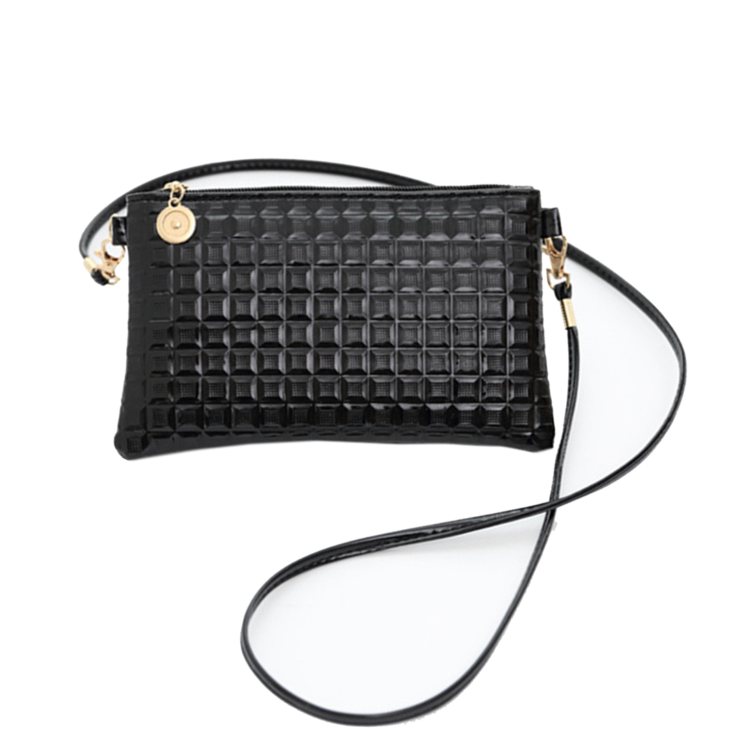 Women Injection Of Yellow Lemon Leather Wallet Large Capacity Zipper Travel Wristlet Bags Clutch Cellphone Bag