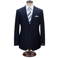 Custom Made Wool Black Stripe Suit Men Business Suit Party Wedding Tuxedos Groom Men Customized Letters