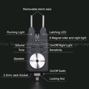 Image 3 - Черный 4 1 сигнализация для прикуса карпа, беспроводная Цифровая Сигнализация для прикуса, световой сигнал, водонепроницаемый, для ловли карпа