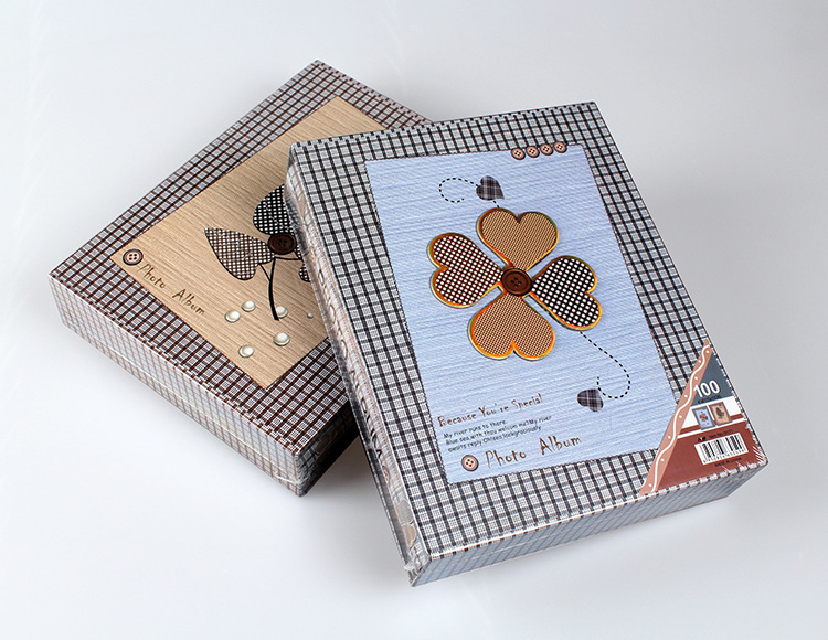 200 Pocket Type Photo Album Scrapbook Interleaf Type Classical 6 Inch Sping Paper lover Photo Album Wedding memorial album Home in Photo Albums from Home Garden