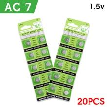20pcs/pack Fast Selling AG7 Alkaline Batteries G7 LR57 LR927 SR927W 39