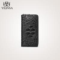 Luxury Men Wallet Cow Genuine Leather Purse Alligator Handbags Interior Zipper Pocket wallets Phone Pocket Standard Purses