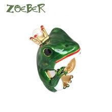 Zoeber Wedding Rings 3D Enamel Glaze Frog Rings for Men Women Fashion Party Gift Unique Design Best Friend Gift Jewelry RJ2104