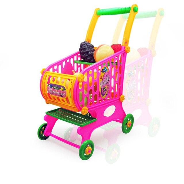 2e2a5748e الاطفال اللعب محاكاة عربة التسوق الخضروات الفواكه الغذاء نتظاهر اللعب  للأطفال تسجيل النقود بالسوبر ماركت لعبة