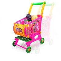 Kids Toys Simulation Shopping Cart Vegetables Fruits Food Pretend Play For children supermarket cash register toy jouet fille