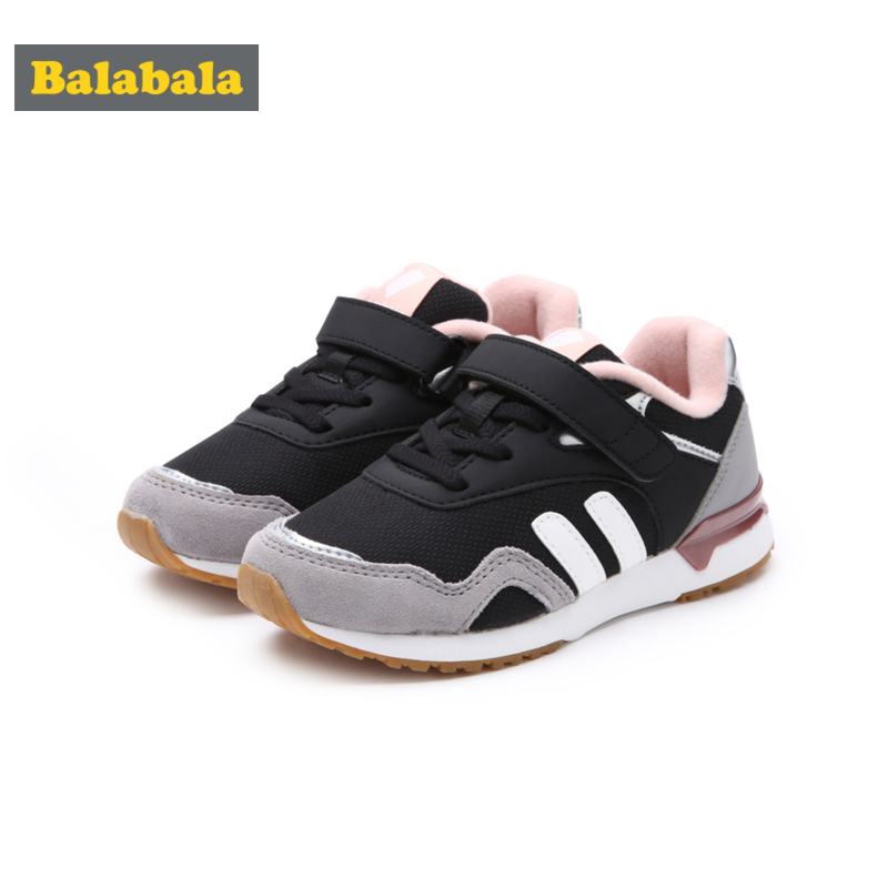 Balabala Girls Fleece-Lined Sneakers with Hook-and-loop Strap for Teenage Girl Padded Collar and Insole Anti-Slip SoleBalabala Girls Fleece-Lined Sneakers with Hook-and-loop Strap for Teenage Girl Padded Collar and Insole Anti-Slip Sole