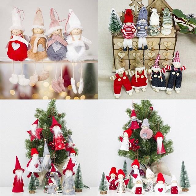 new cute angel plush doll christmas decoration pendant creative christmas tree ornaments christmas decoration for home - Angel Christmas Tree Ornaments