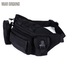 Molle military bag tactical pocket waterproof outdoor fishing belt camouflage hunting