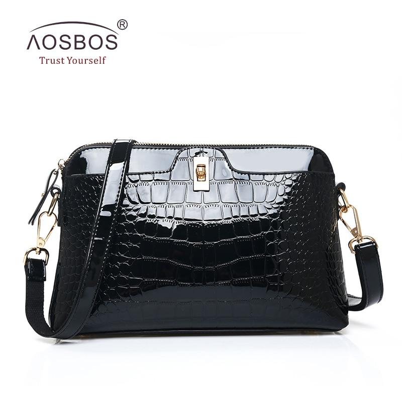 여성 악어 가죽 핸드백 PU 가죽 지퍼 어깨 가방 유럽 스타일과 아메리칸 스타일 숙녀 검은 가방 Bolsas Femininas Sac